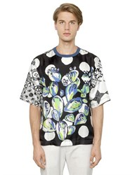 Dolce And Gabbana Cactus Printed Silk T Shirt