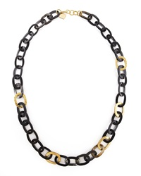 Ashley Pittman Bronze And Horn Link Mara Necklace