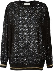 Stella Mccartney Floral Lace Sweatshirt Black