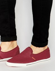 Jack And Jones Jack And Jones Spider Canvas Loafer Red