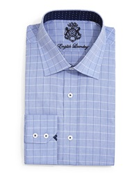 English Laundry Large Check Dress Shirt Blue