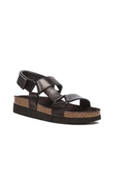 Marc Jacobs Strap Leather Sandals In Black