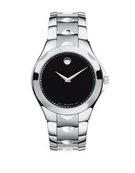 Movado Mens Luno Sport Museum Dial Stainless Steel Watch Silver