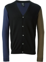 Mcq By Alexander Mcqueen Colour Block Cardigan Black