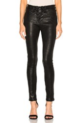 Rag And Bone Jean Lace Up Leather Pants In Black