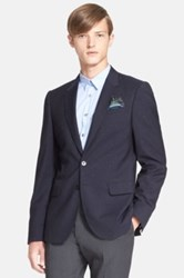 Paul Smith Extra Trim Fit Speckled Wool Sport Coat Blue