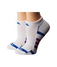 Adidas Climalite Ii 2 Pack No Show Socks White Blue Shock Pink Women's No Show Socks Shoes