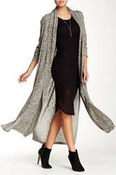 Blvd Hacci Long Cardigan Green