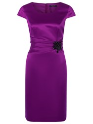 Precis Petite Jewel Waist Shift Dress Plum