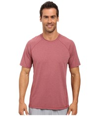 Asics Everyday Short Sleeve Shirt Pomegranate Heather Men's Short Sleeve Pullover Red