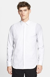 Tim Coppens Trim Fit Pieced Sport Shirt White Grey