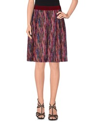 Brian Dales Skirts Knee Length Skirts Women Garnet