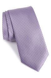 Calibrate Men's 'Gelato Micro' Textured Silk Tie Purple