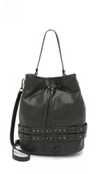 She Lo Aim High Drawstring Bucket Bag Black