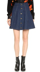Rodarte Denim Skirt Blue