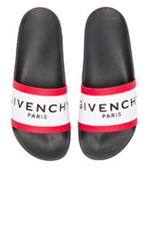 Givenchy Slide Sandals In Black White Black White