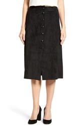 Catherine Malandrino Women's 'Emeric' Button Front Faux Suede Skirt