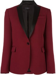 Joseph One Button Blazer Red