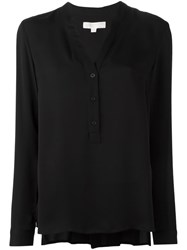 Michael Michael Kors Band Collar Blouse Black