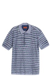 Missoni Open Weaved Polo Blue