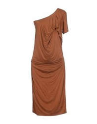 Plein Sud Jeanius Knee Length Dresses Brown