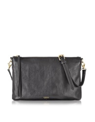 Fossil Sydney Top Zip Flat Crossbody Bag Black