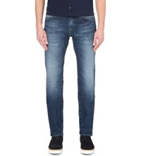 Hugo Boss Leisure Regular Fit Mid Rise Jeans Bright Blue