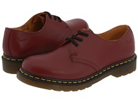 Dr. Martens 1461 3 Eye Gibson Cherry Red Smooth Lace Up Casual Shoes