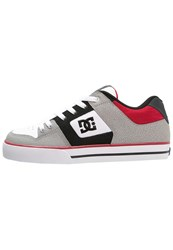 Dc Shoes Pure Skater Shoes Grey Black Red