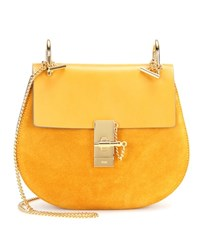 Chloe Drew Leather And Suede Shoulder Bag Yellow