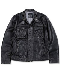Lucky Brand The Ace Leather Jacket Black