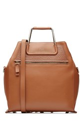 Steffen Schraut Leather Boxy Bag Brown
