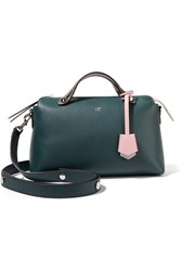 Fendi By The Way Small Color Block Leather Shoulder Bag Emerald