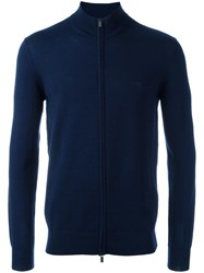 Armani Jeans Zipped Cardigan Blue