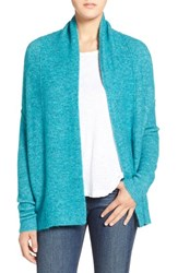 Women's Velvet By Graham And Spencer Heather Open Front Cardigan Teal