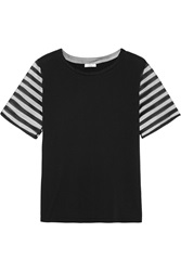 Clu Tulle Paneled Cotton And Modal Blend T Shirt