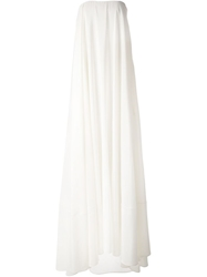 A.F.Vandevorst Strapless Flared Gown Nude And Neutrals