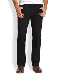 True Religion Ricky Straight Leg Jeans Midnight Black