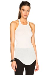 Rick Owens Ribbed Cotton Basic Tank In White