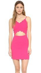 J.O.A. Scallop Mini Dress Fuchsia
