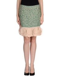 Fendi Knee Length Skirts Light Green