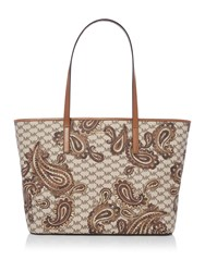 Michael Kors Paisley Tan Large Tote Bag Tan