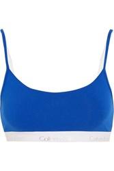Calvin Klein Underwear Ck One Stretch Cotton Jersey Soft Cup Bra Bright Blue