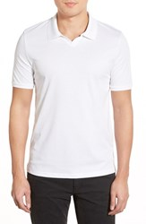 Men's Vince Camuto 'Johnny' Trim Fit Pima Cotton Jersey Polo White
