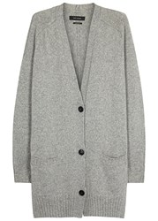 Isabel Marant Farah Grey Wool Blend Cardigan Light Grey