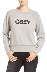 Obey Women's 'Static Age' Raglan Sleeve Sweatshirt