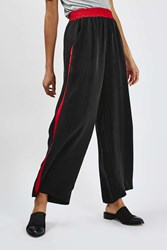 Wide Leg Striped Trousers By Boutique Black