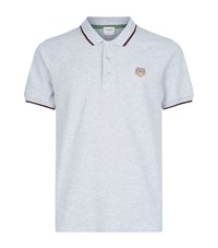 Kenzo Tipped Collar Polo Shirt Male Light Grey