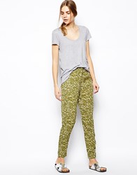 Selected Landrina Trousers Camo Green