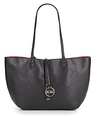Bcbgmaxazria Reversible Faux Leather Tote Black Red